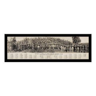 Plattsburgh NY Artillery Photo 1916 Poster