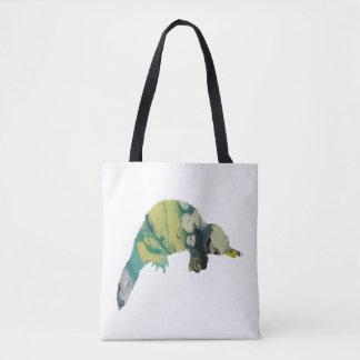 Platypus art tote bag