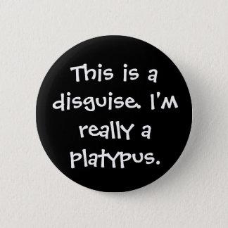 Platypus Costume 2 Inch Round Button
