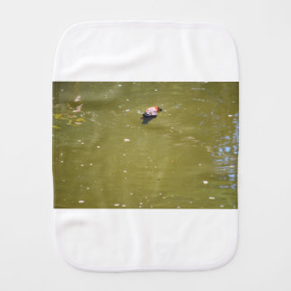 PLATYPUS DIVING IN WATER EUNGELLA AUSTRALIA BURP CLOTH