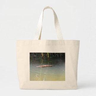 PLATYPUS IN WATER EUNGELLA AUSTRALIA LARGE TOTE BAG