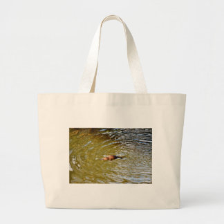 PLATYPUS IN WATER EUNGELLA NATIONAL PARK AUSTRALIA LARGE TOTE BAG