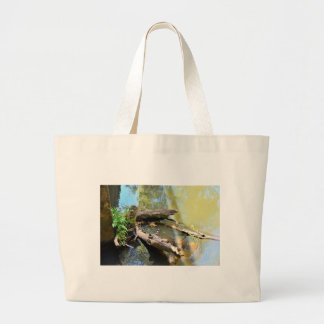 PLATYPUS IN WTAER EUNGELLA NATIONAL PARK AUSTRALIA LARGE TOTE BAG