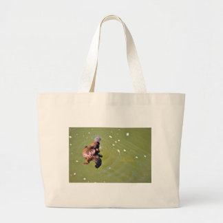 PLATYPUS IN WTAEREUNGELLA NATIONAL PARK AUSTRALIA LARGE TOTE BAG