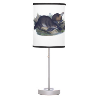 Platypus on a Log Illustration Table Lamp