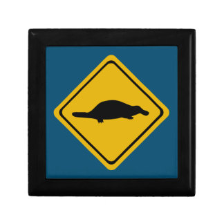 platypus road sign gift boxes