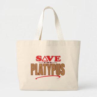 Platypus Save Large Tote Bag