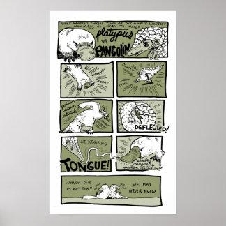 Platypus vs. Pangolin Poster