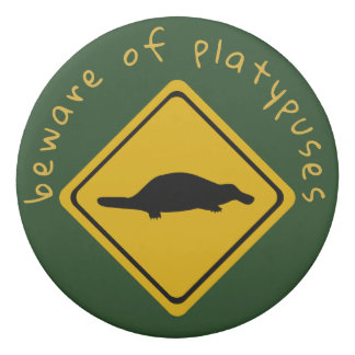 platypuses road sign - eraser