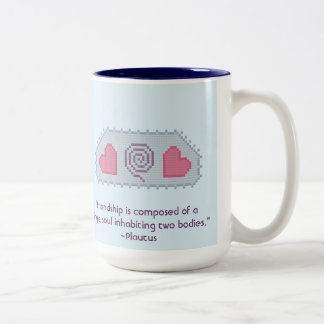Plautus Friendship Quote Mug