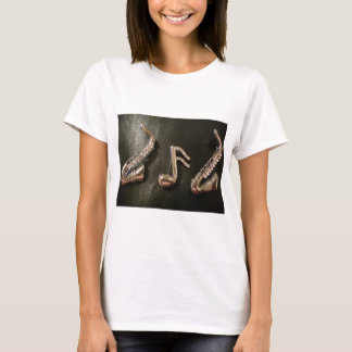 Play a musical note on that Saxaphone T-Shirt