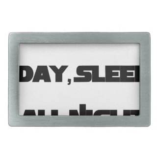 Play All Day, Sleep All Night Rectangular Belt Buckles