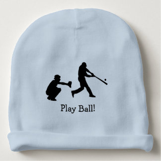 Play Ball Blue Baseball Sports Baby Beanie