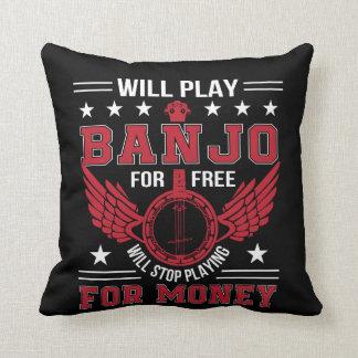 Play Banjo Frree Stop Playing Money Shirt Throw Pillow
