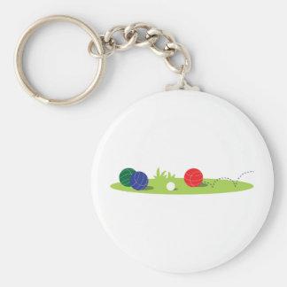 Play Bocce Basic Round Button Keychain