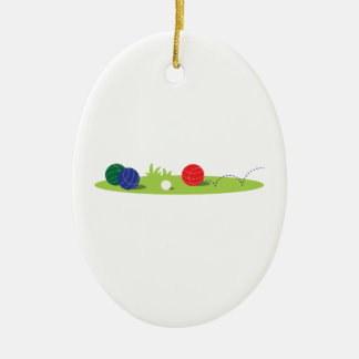 Play Bocce Ceramic Ornament
