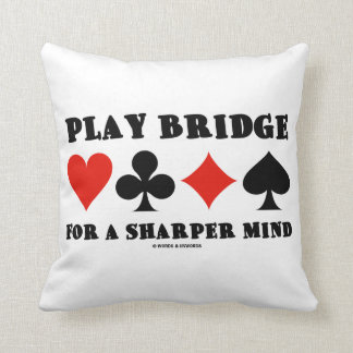 Play Bridge For A Sharper Mind Four Card Suits Throw Pillow