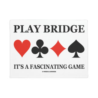 Play Bridge It's A Fascinating Game (Card Suits) Doormat