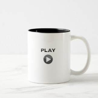 play button coffee cup