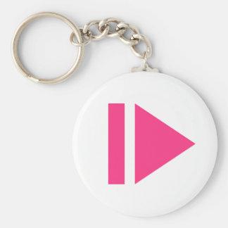 Play button keychain