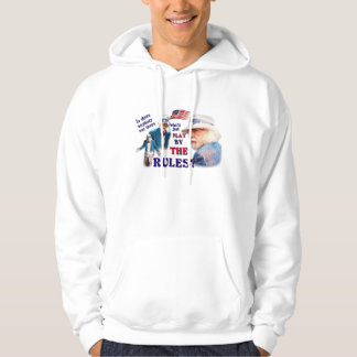 Play By The Rules - Tattered Flag Hoodie