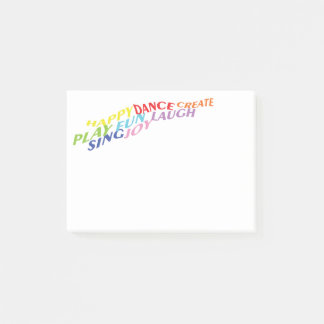 Play, Dance, Laugh, Sing Post-it Notes
