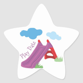 Play Date Star Sticker