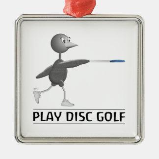 Play Disc Golf Metal Ornament