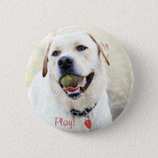 Play Dog 2 Inch Round Button