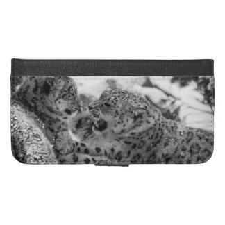 Play-Fighting Snow Leopard Brothers iPhone 6/6s Plus Wallet Case