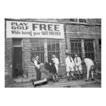 Play Golf Free Vintage Golf Humour Poster