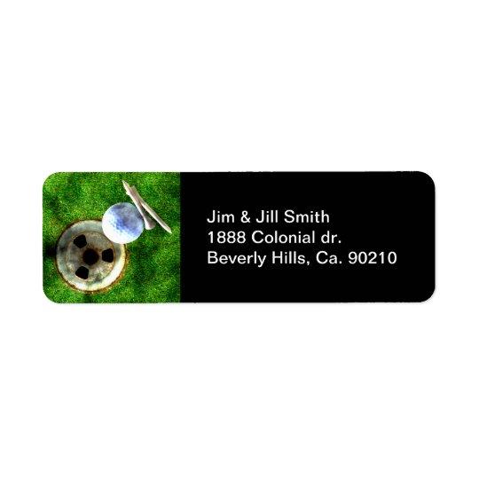 Play Golf Grunge Style Return Address Label