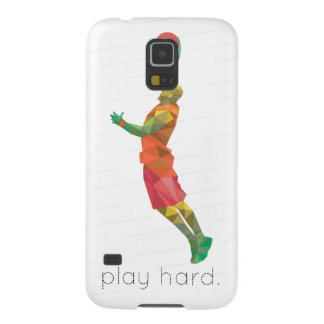 Play Hard Basketball Origami Galaxy S5 Covers