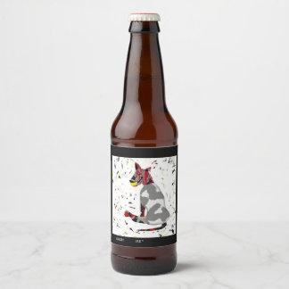 Play Hard, blank Beer Bottle Label