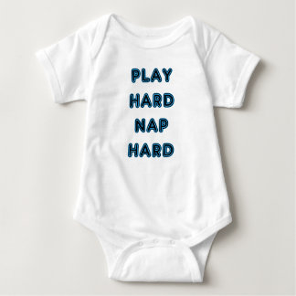 Play Hard Nap Hard Baby Bodysuit