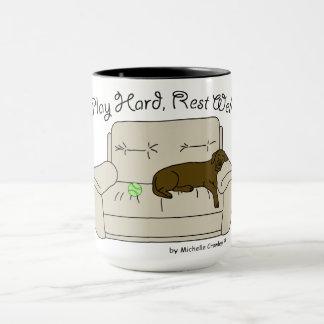 play hard rest well mug