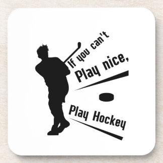 Play Hockey Funny Gifts Men Women Coaster