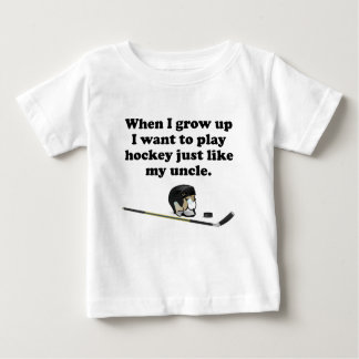 Play Hockey Like My Uncle Baby T-Shirt
