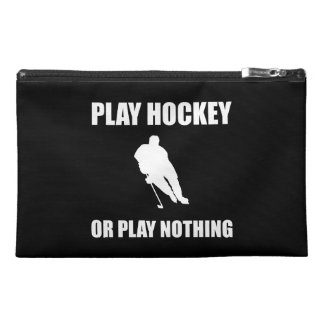 Play Hockey Or Nothing Travel Accessory Bags