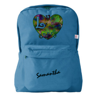 Play in Paint LOVE EARTH Personalized Backpack