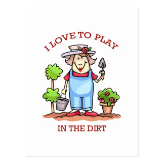 PLAY IN THE DIRT POSTCARD