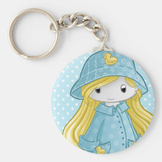 Play in the rain keychain