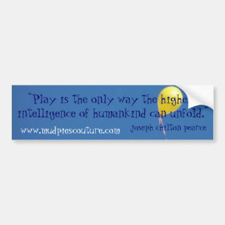 play intelligence - Customized - Customized Bumper Sticker
