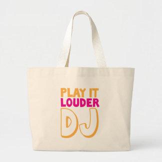 PLAY it LOUDER DJ! Jumbo Tote Bag