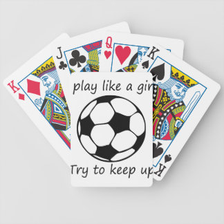 play like a girl3 bicycle playing cards