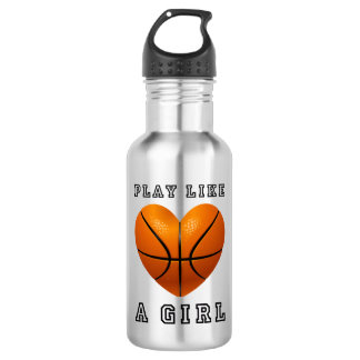 play like a girl basketball 532 ml water bottle