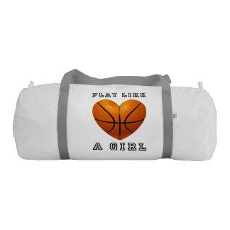 Play like a girl basketball gym bag