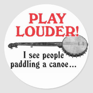 Play Louder Sticker