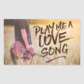 Play Me A Love Song Typography Photo Template Sticker
