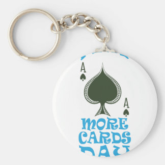 Play More Cards Day - Appreciation Day Basic Round Button Keychain